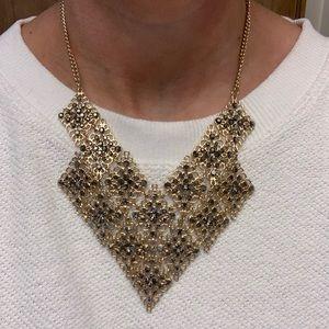 Gold & gunmetal statement necklace